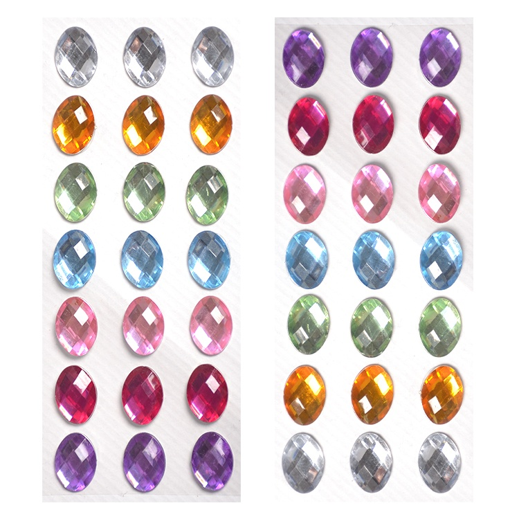 Free samples sheet self adhesive decals multi-color big diamond surface acrylic
