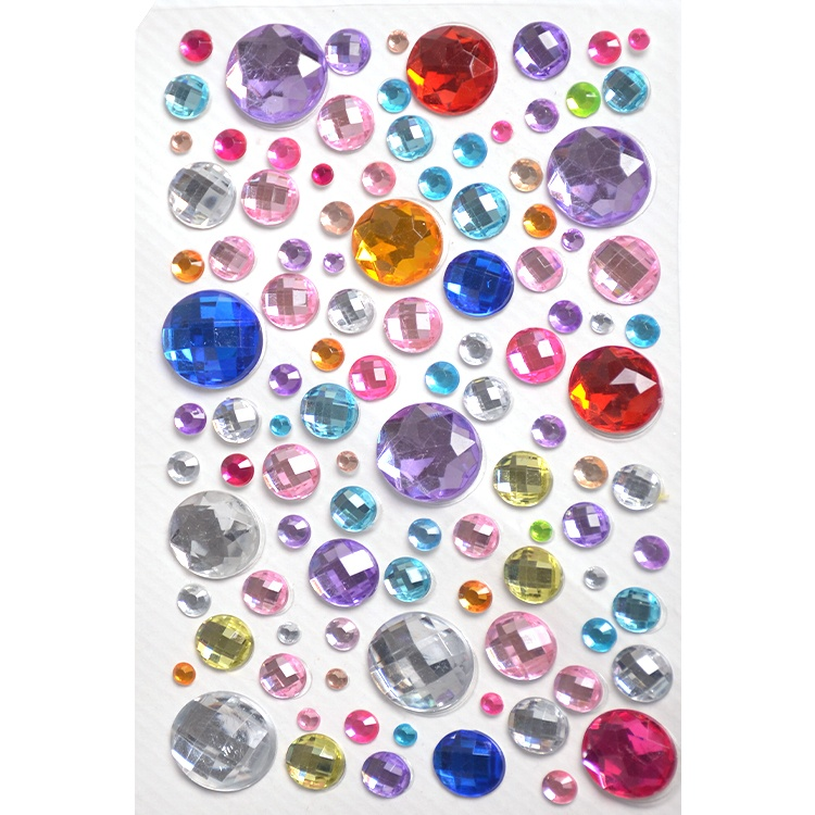 Best service sheet carft sticker different size mix multi-color gems